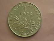 имеются в коллекции монеты России ,  СССР и Французской республики  в х