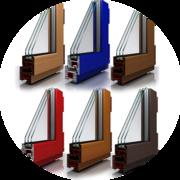 Пластиковые окна из цветного профиля