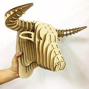 Декоративные головы животных. Лазерная резка на фанере любых животных.